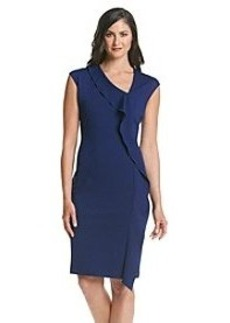Anne Klein® Ponte Asymmetrical Neck Dress