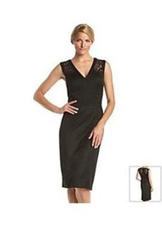 Anne Klein® Sateen Lace Cocktail Dress