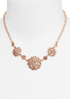 Anne Klein Small Crystal Cluster Frontal Necklace