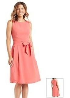Anne Klein® Solid Textured Sleeveless Dress
