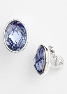 Anne Klein Stone Clip Earrings