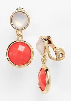 Anne Klein Stone Drop Clip Earrings