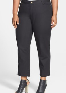 Anne Klein Tailored Stretch Twill Ankle Jeans (Plus Size)