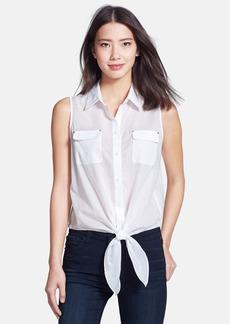 Anne Klein Tie Front Sleeveless Blouse (Regular & Petite)