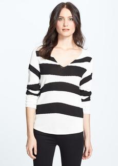Anne Klein V-Neck Intarsia Sweater (Petite)