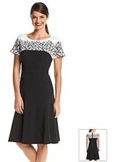 Anne Klein® Weave Seam Dress