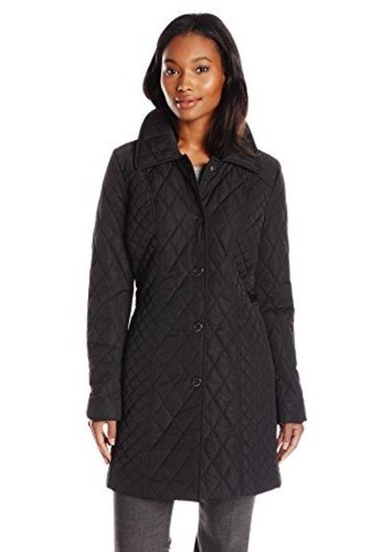 Anne Klein Anne Klein Women S Quilted Jacket Black Large
