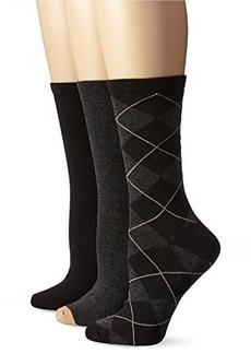 Anne Klein Women's Three-Pack Argyle Crew Socks