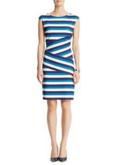 Banded Textured Zipper Dress