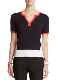 Color Block Pullover