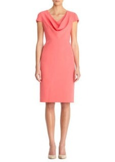 Cowk Neck Sheath Dress