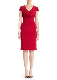 Cowl Neck Sheath Dress