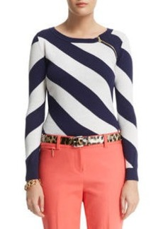 Diagonal Stripe Pullover