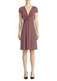 Dot Print Cap Sleeve Dress