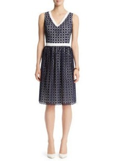 Eyelet Sateen Dress