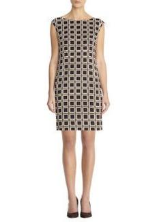 Geo print sheath dress