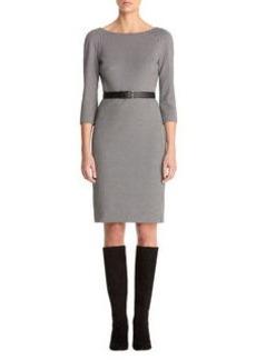 Gingham Ponte Sheath Dress
