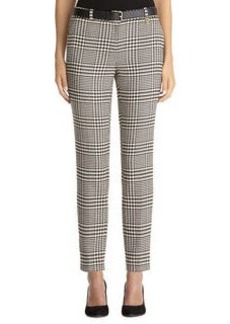 Glen plaid check slim pant