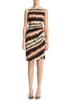 Jersey Side Pleated Dress.