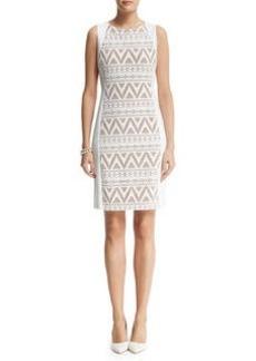 Knit Combo Sheath Dress