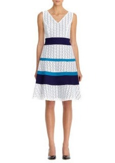 Lace & Cotton Banded Dress