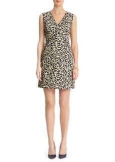 Leopard Print A-line Dress