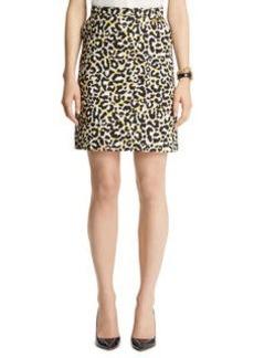 Leopard Print A line Skirt