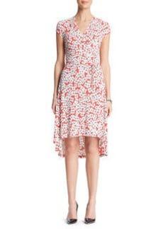 Mini Floral Cap Sleeve Dress