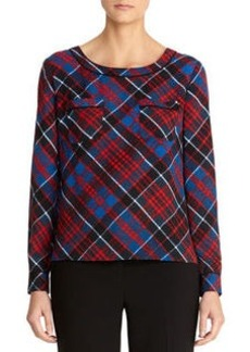 Plaid Print T-Shirt Blouse