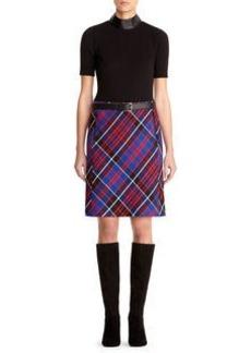 Plaid Zip Skirt