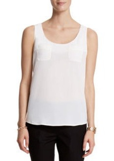 Sleeveless Shell With Pockets
