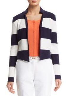 Stripe Notch Collar Jacket
