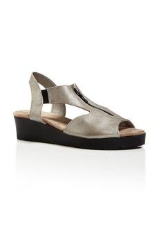 arche Peek Toe Platform Sandals - Malzy Zip Up