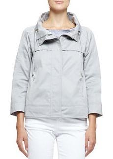 3/4-Sleeve Short Jacket   3/4-Sleeve Short Jacket