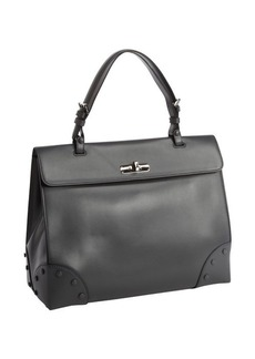 Armani asfalto leather button detail top handle bag