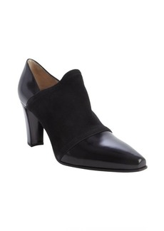 Armani black leather suede sleeve pointed toe pumps