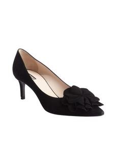 Armani black suede floral upper pumps