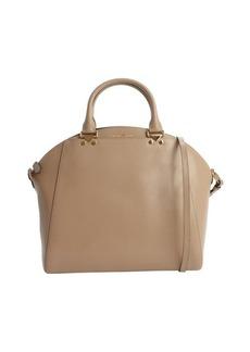 Armani camel calfskin convertible top handle bag