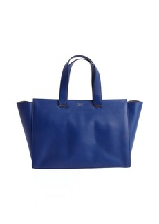 Armani cobalt leather shopping tote