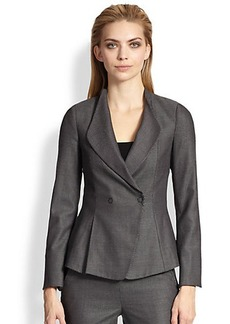 Armani Collezioni Birdseye Stretch Wool Jacket