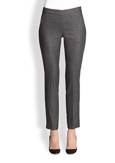 Armani Collezioni Birdseye Stretch Wool Slim Pants