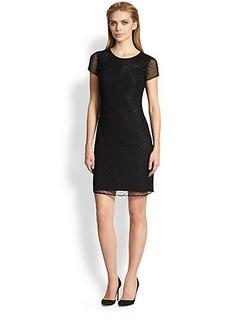 Armani Collezioni Chevron Beaded Dress