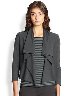 Armani Collezioni Draped Wool & Cashmere Cardigan