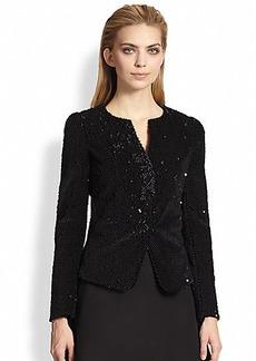 Armani Collezioni Embellished Jersey Jacket