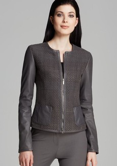 Armani Collezioni Jacket - Twill Front Leather