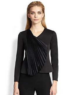 Armani Collezioni Pleated Fan Jacket