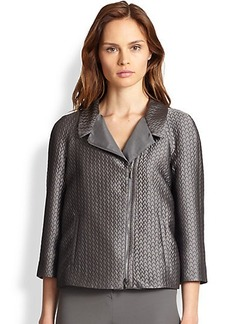 Armani Collezioni Quilted Jacquard Swing Jacket
