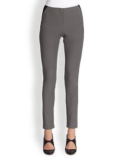 Armani Collezioni Tech Cotton Moto Pants
