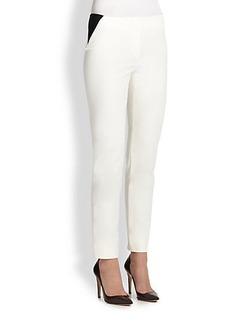 Armani Collezioni Tech Cotton Slim Pants
