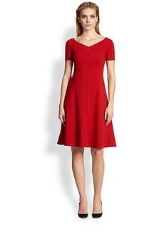Armani Collezioni Wool Godet Dress
